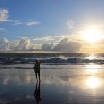 Новый пляж в 20 минутах от дома. 23 февраля 2014.