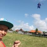 Запуск летучего змея на Бали